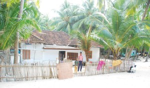 A typical house in Lakshadweep