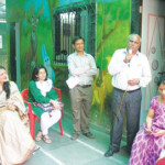 Principal Bakelal C. Singh addressing the students. Mrs. Hegde, Sonam Saigal (sub editor OIOP), Vaibhav Palkar (OIOP Club In-charge) and Ms. Swati Ratnakar Gaikwar watch on