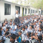 A view of the students\