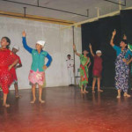 Students perform a Koli dance on the occasion