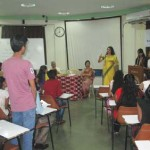 Mrs. Hegde fielding question from the students