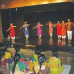 Students perform on the occasion.