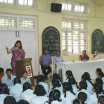 Mrs. Hegde addressing the students