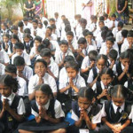Students offering their prayers
