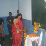 Mrs. Hegde inaugurated the event by lighting the lamp