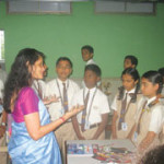 Mrs. Hegde fielded questions from the students