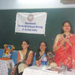 Mrs. Hegde addressed the students
