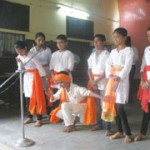 Students presented a cultural programme on the occasion