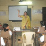 Mrs. Hegde addressed the students of the school