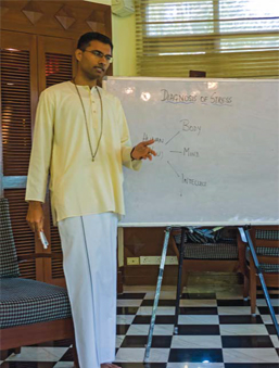 A Vedanta class in session
