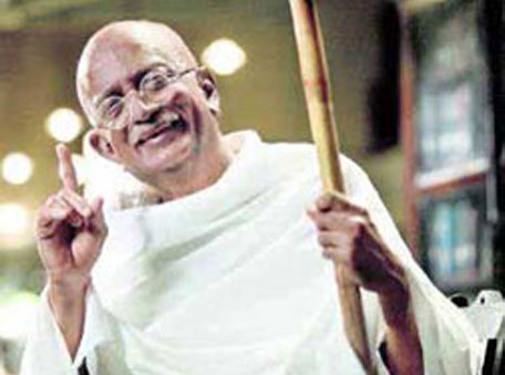 Dilip Prabhavalkar as Gandhi in the Hindi film Lage Raho Munna Bhai