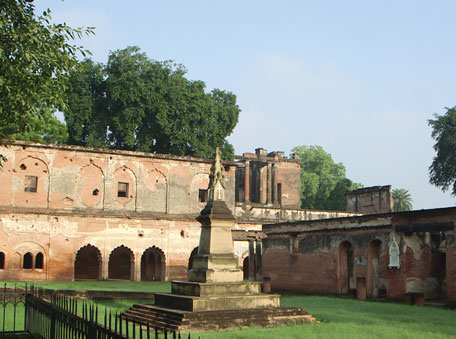 The Lucknow Residency, which saw a siege in 1857