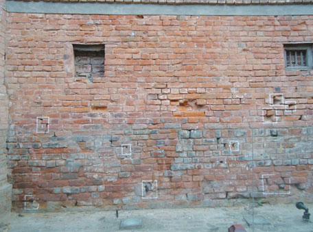 A wall at Jallianwala Bagh pock-marked with bullets, a grim testament of a brutal massacre