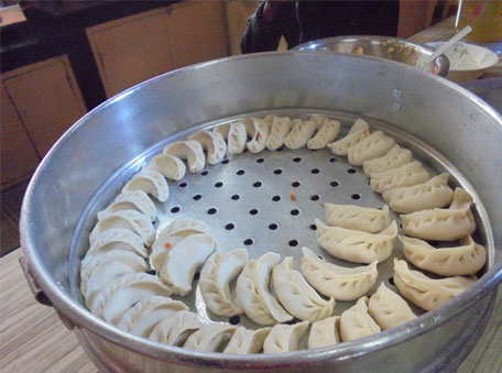 Steamed momos are a safe bet, avoid the sauces though!