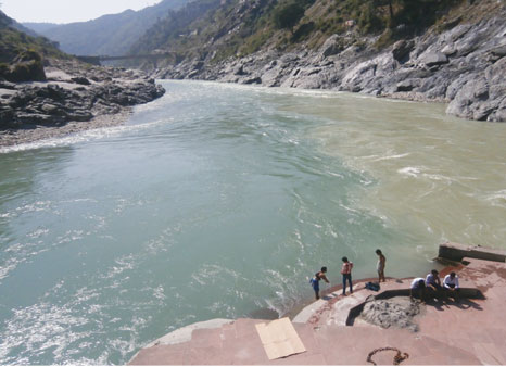 Devprayag, where the Alaknanda merges with the Bhagirathi to become the Ganga (photo: H.V.Shiv Shankar)