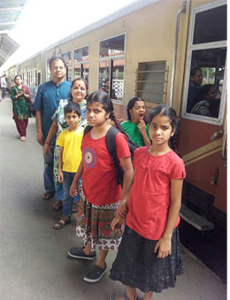 Travelling with the four is always eventful, says Sangeetha, their mother