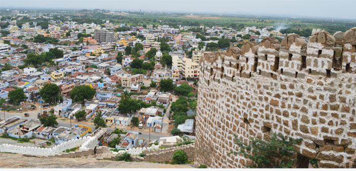 The city of Hyderabad from the Bhongir Fort