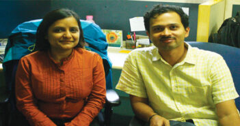 Dr. Neha Satak of Astrome Technologies with co-founder Prasad Bhat