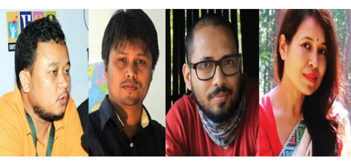 From left to right: Haobam Paban Kumar, Jaicheng Jai Dohutia, Deep Chowdhury and Rima Das; a breed of experimenting filmmakers from the Northeast