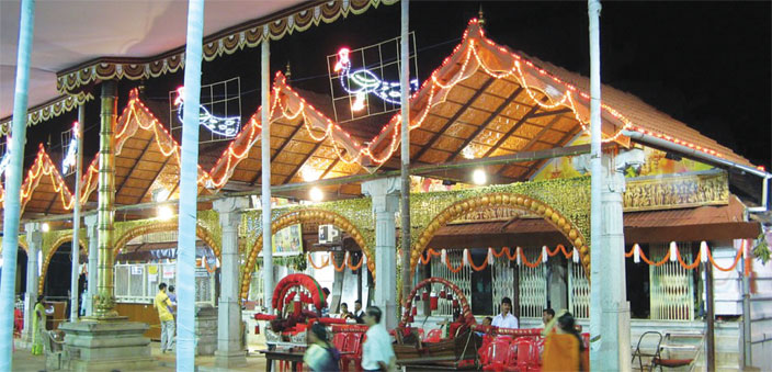 The Mangalore Mangaladevi Temple, one of the oldest temples in the city (Photo: H.V. Shiv Shankar)
