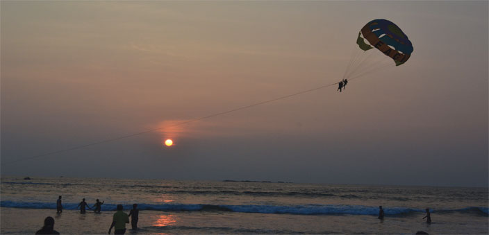 Panambur Beach, which is popular for water sports