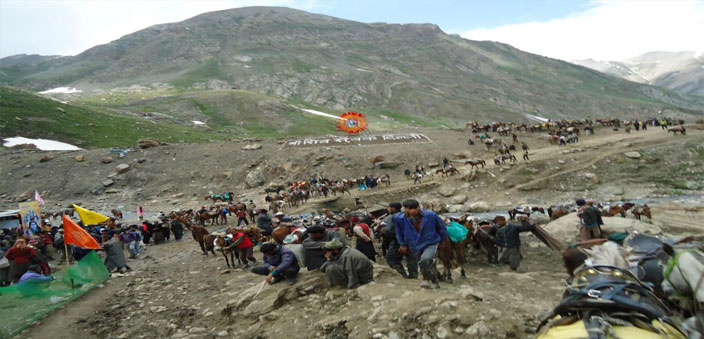 The Amarnath yatra  (above) is sponsored by our government, as is the Haj pilgrimage