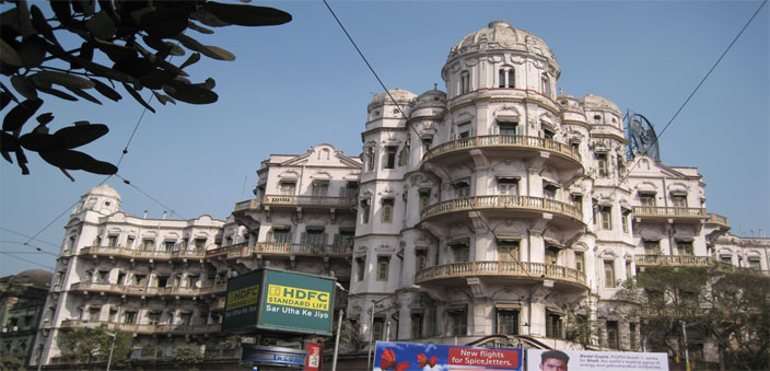The Esplanade Mansions is one of the landmarks of Calcutta