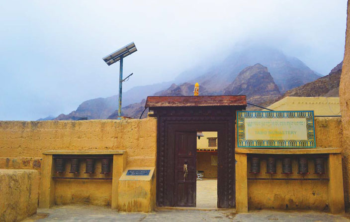 Entrance to the over 1000-year-old Tabo monastery which holds an extraordinary wealth of documentation detailing the history and culture of the region