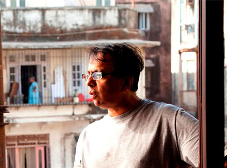 Ananth Mahadevan, the director, on the sets of Gour Hari Dastaan