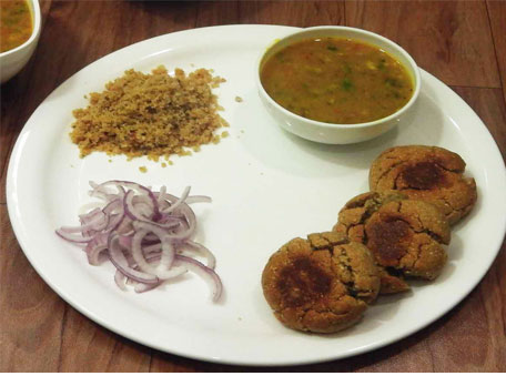 Dal bati choorma is a very popular dish
