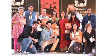 The team of Kala Ghoda and actor Siddharth Malhotra (sitting, centre) at the book launch