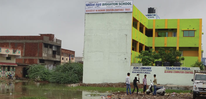 The Brighton School, which is located next to a garbage dumping ground