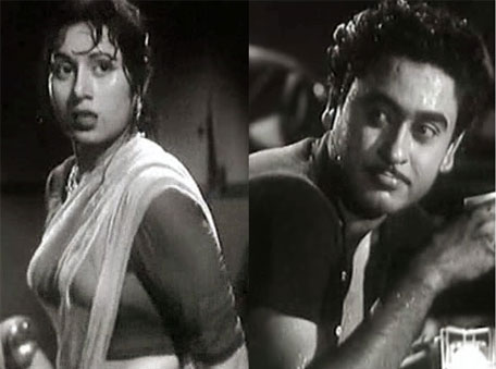 The ethereally beautiful Madhubala with Kishore Kumar in Chalti ka naam gaadi