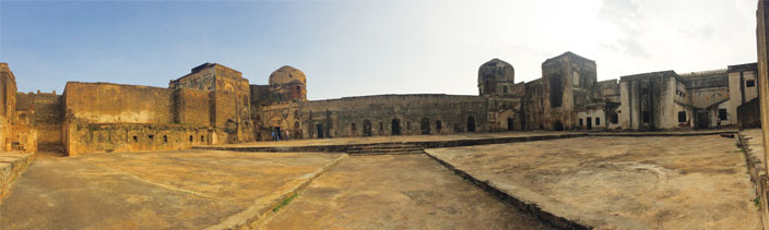 The audience chamber of the palace at Bidar Fort