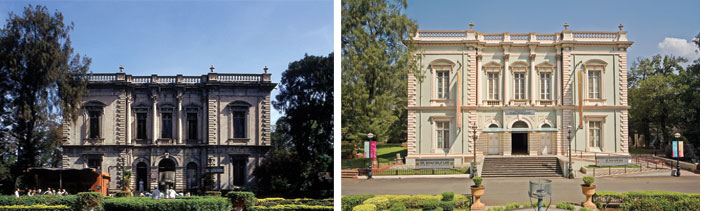The Bhau Daji Lad Museum exterior (left) before and (right) after restoration