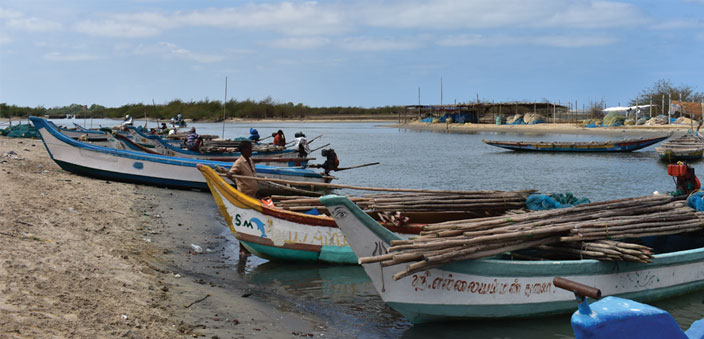 Fishing boats by the Pulicat lagoon; the town of Pulicat has a lot to offer too