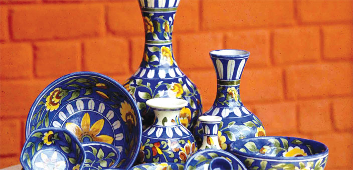 The unique Jaipur blue pottery